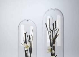 透明圆柱形玻璃装饰品3D模型下载 透明圆柱形玻璃装饰品3D模型下载