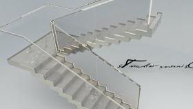 鐵藝樓梯 草圖大師模型SU模型下載 鐵藝樓梯 草圖大師模型SU模型下載