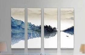 新中式风景挂画装饰画组合3D模型下载 新中式风景挂画装饰画组合3D模型下载
