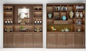 新中式酒柜裝飾柜組合3d模型下載 新中式酒柜裝飾柜組合3d模型下載