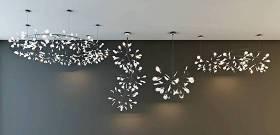 現代樹枝葉子吊燈組合3D模型下載 現代樹枝葉子吊燈組合3D模型下載