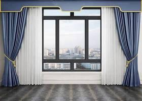 现代窗户窗帘窗纱3D模型下载 现代窗户窗帘窗纱3D模型下载