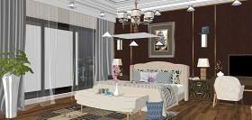 现代主卧室室内设计SU模型下载 现代主卧室室内设计SU模型下载