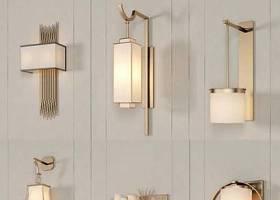 中式金屬壁燈組合3D模型下載 中式金屬壁燈組合3D模型下載