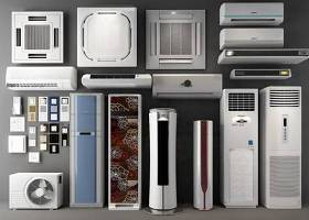 現代立式掛式空調柜機天花機3D模型下載 現代立式掛式空調柜機天花機3D模型下載
