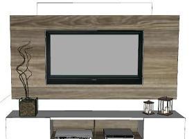 现代电视柜背景墙相框 电视机 家庭影院 其他 显示器SU模型下载 现代电视柜背景墙相框 电视机 家庭影院 其他 显示器SU模型下载