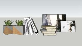 书本组合 草图大师模型SU模型下载 书本组合 草图大师模型SU模型下载