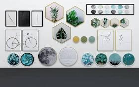 现代植物手绘装饰画3D模型下载 现代植物手绘装饰画3D模型下载