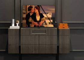 现代实木电视柜电视机饰品组合3D模型下载 现代实木电视柜电视机饰品组合3D模型下载