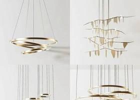 现代金属吊灯组合3D模型下载 现代金属吊灯组合3D模型下载