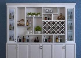 歐式實木酒柜酒水組合3D模型下載 歐式實木酒柜酒水組合3D模型下載