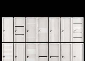 現代白色木藝門組合3D模型下載 現代白色木藝門組合3D模型下載