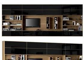 现代实木电视柜电视机书籍摆件组合3D模型下载 现代实木电视柜电视机书籍摆件组合3D模型下载