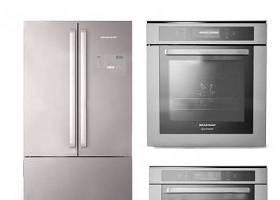 现代冰箱烤箱微波炉组合3D模型下载 现代冰箱烤箱微波炉组合3D模型下载