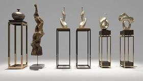 现代带底座雕塑组合3D模型下载 现代带底座雕塑组合3D模型下载