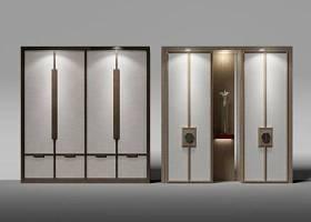 新中式衣柜擺件組合3D模型下載 新中式衣柜擺件組合3D模型下載