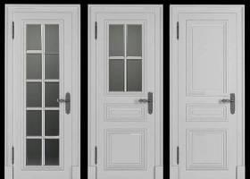 歐式實木玻璃門組合3D模型下載 歐式實木玻璃門組合3D模型下載
