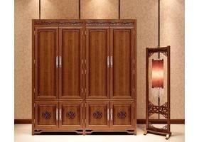 中式雕花衣柜3D模型下載 中式雕花衣柜3D模型下載