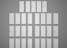 簡歐白色單開門組合3D模型下載 簡歐白色單開門組合3D模型下載