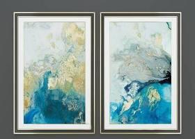 现代抽象蓝色海洋装饰画组合3D模型下载 现代抽象蓝色海洋装饰画组合3D模型下载