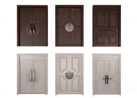 簡歐實木雙開門組合3D模型下載 簡歐實木雙開門組合3D模型下載