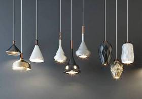 現代金屬吊燈組合3D模型下載 現代金屬吊燈組合3D模型下載