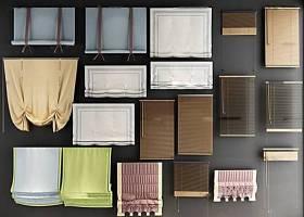现代窗帘布帘卷帘组合3D模型下载 现代窗帘布帘卷帘组合3D模型下载