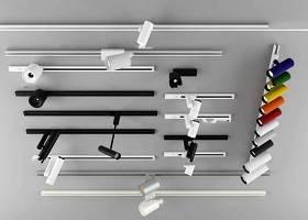 現代軌道射燈組合3D模型下載 現代軌道射燈組合3D模型下載