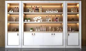 現代酒柜擺件組合3D模型下載 現代酒柜擺件組合3D模型下載