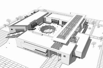 现代博物馆SU模型下载 现代博物馆SU模型下载