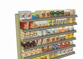 超市零食貨架su模型下載 超市零食貨架su模型下載