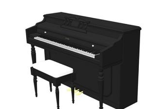 乐器钢琴SU模型下载 乐器钢琴SU模型下载