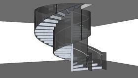 旋转楼梯 草图大师模型SU模型下载 旋转楼梯 草图大师模型SU模型下载