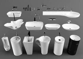 現代立柱臺盆水龍頭組合3d模型下載 現代立柱臺盆水龍頭組合3d模型下載