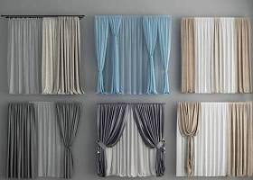 现代窗帘窗纱组合3D模型下载 现代窗帘窗纱组合3D模型下载