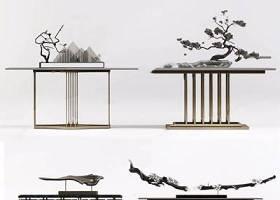 新中式案幾擺件組合 新中式邊柜/玄關柜 端景臺 松樹 裝飾品 擺件 干支3D模型下載 新中式案幾擺件組合 新中式邊柜/玄關柜 端景臺 松樹 裝飾品 擺件 干支3D模型下載