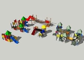 精品免費兒童滑滑梯組合SU模型下載 精品免費兒童滑滑梯組合SU模型下載