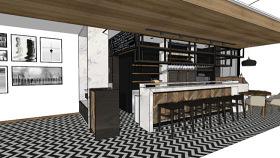 塔巴斯酒吧柜臺 擱層 樓梯 木板 室外 其他 SU模型下載 塔巴斯酒吧柜臺 擱層 樓梯 木板 室外 其他 SU模型下載