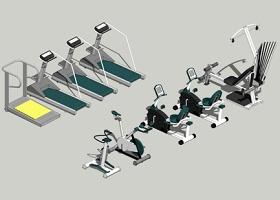 精品免費室內健身器械SU模型下載 精品免費室內健身器械SU模型下載