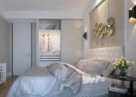 现代家居卧室 现代白色长方形木艺衣柜 圆形墙饰挂件3D模型下载 现代家居卧室 现代白色长方形木艺衣柜 圆形墙饰挂件3D模型下载