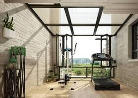 现代阳台健身房盆栽组合3D模型下载 现代阳台健身房盆栽组合3D模型下载