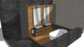 当代浴室SU模型下载 当代浴室SU模型下载