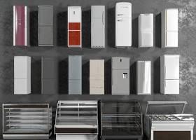 现代单开门冰箱冰柜组合3D模型下载 现代单开门冰箱冰柜组合3D模型下载