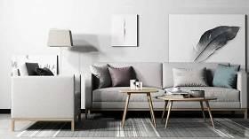 北歐布藝雙人沙發單人沙發茶幾裝飾畫組合3D模型下載 北歐布藝雙人沙發單人沙發茶幾裝飾畫組合3D模型下載