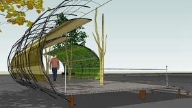景观柱廊 草图大师模型SU模型下载 景观柱廊 草图大师模型SU模型下载