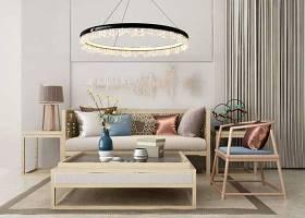 新中式沙发茶几吊灯组合3D模型下载 新中式沙发茶几吊灯组合3D模型下载