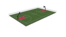 籃球法院detailedSU模型下載 籃球法院detailedSU模型下載