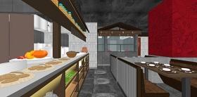 精品免费中式餐饮空间设计su模型下载 精品免费中式餐饮空间设计su模型下载