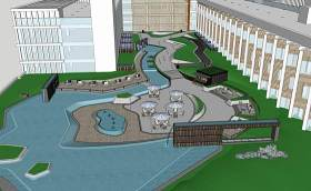 中式屋顶花园SU模型下载 中式屋顶花园SU模型下载