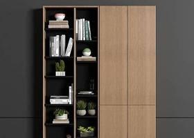 北歐實木裝飾柜書籍擺件3D模型下載 北歐實木裝飾柜書籍擺件3D模型下載